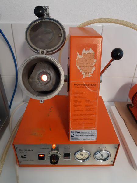 Heraeus Hanau Combilabor CL-G Vakuum- Druckgussgerät